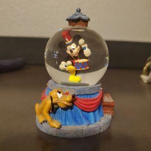 Mickey and Pluto Snow Globe